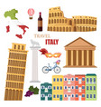 italy set collection architecture and symbols vector image