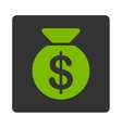 Money Bag Icon from Commerce Buttons OverColor Set vector image vector image