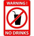 No drink sign Flat design vector image