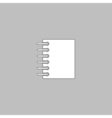 notepad computer symbol vector image vector image
