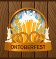 oktoberfest 2018 holiday beer background bavarian vector image