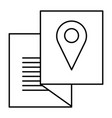 paper with pin location vector image