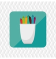 pencil holders design vector image vector image