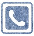 phone fabric textured icon vector image vector image