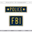 police fbi vector image vector image