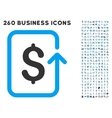 Reverse Transaction Icon with Flat Set vector image vector image