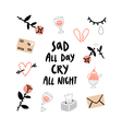 Sad all day card vector image vector image