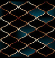 seamless golden wire oriental pattern vector image vector image