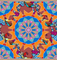 seamless pattern with mandalas ornaments vector image