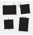 set blank photos for collage vector image vector image