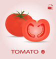 set of two fresh ripe and sliced tomatos vector image vector image