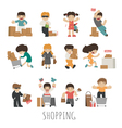 shopping eps10 format vector image vector image