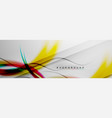 smooth flowing wave motion concept background vector image vector image