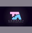 ta alphabet letter join joined letter logo design vector image vector image