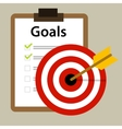 target goals icon success business strategy vector image vector image