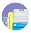 tax payment time vector image