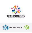 technology logo design vector image vector image