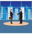 Two businessmen Man and woman vector image