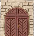 vintage doors vector image
