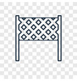 volleyball net concept linear icon isolated on vector image