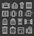 window design icons set grey vector image vector image