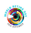 world retina day vector image