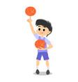 happy kids school activity child sport team boy vector image