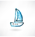 sailfish grunge icon vector image