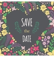 Save the date phrase on heart frame vector image