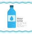 Bottle for water vector image