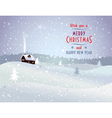 Christmas landscape with house vector image