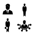 Isolated business icons vector image