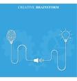 Creative brainstorm concept business vector image