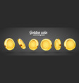 3d gold isolated coins set different positions vector image vector image