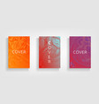 abstract covers design gradients set vector image vector image