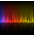 abstract equalizer background purple-red-yellow vector image vector image