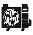 air conditioning street part icon simple style vector image vector image