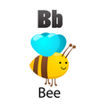 Alphabet B with bee vector image