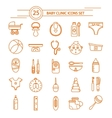 Baby Clinic Linear Icons Set vector image vector image