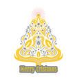 beautiful abstract christmas tree vector image vector image
