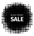 black friday holiday retro icon in halftone style vector image vector image