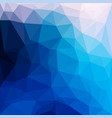 blue abstract geometric rumpled triangular low vector image
