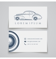 Business card template Classic car logo vector image vector image