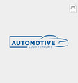 car logo in simple line graphic design template vector image vector image
