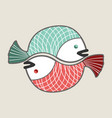 circle love fishes vector image vector image