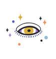 composition esoteric evil eye with stars around vector image vector image