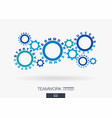 connected cogwheels concept teamwork success vector image vector image