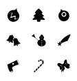 cristmas icons set vector image vector image
