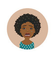 cute afro american crying woman facial expression vector image vector image