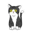 cute grey cat clipping art good for cutting file vector image